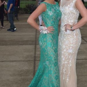 Emerald prom dress; worn once